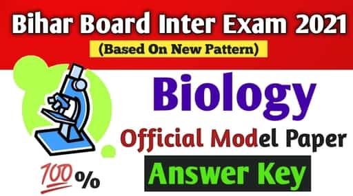 Answer Key: BSEB 12th Biology Official Model Paper 2021 ...